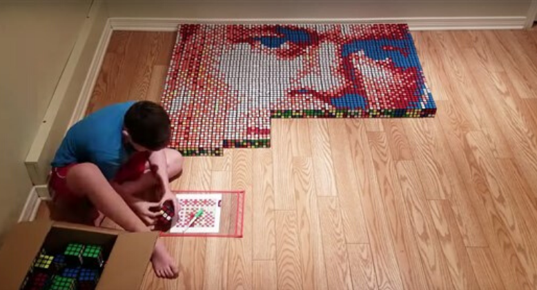 "9-Year-Old Benjamin Uses His ""Superpower"" To Create Impressive Artwork"