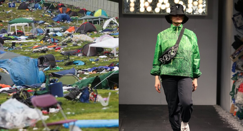 An Eco-Activist Just Turned Abandoned Tents From Music Festivals Into Fashion Forward Clothing!