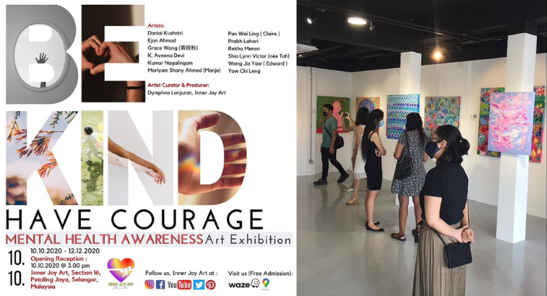 'Be Kind, Have Courage' Art Exhibition for Mental Health Awareness