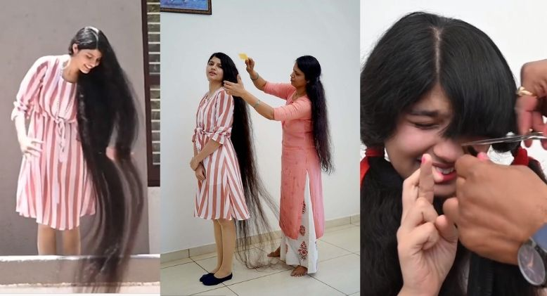 First Haircut in 12 Years for Girl with World's Longest Hair