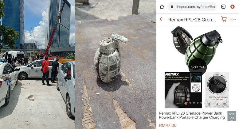 """""""Hand grenade"""" Discovery at TRX Site Actually a Power Bank"""