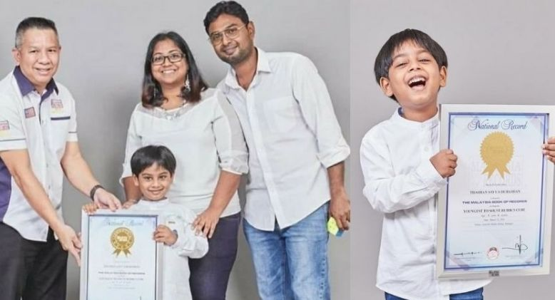 5 Year-Old Thashan Sets Record as the Youngest Person to Solve Rubik's Cube
