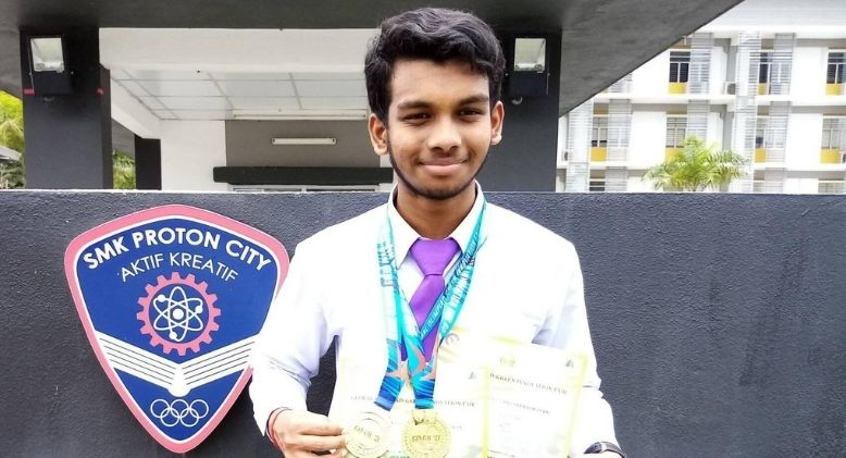 Gold Medals for Malaysian Teen Who Invents Biodegradable Pots at Global Green Innovation Fair