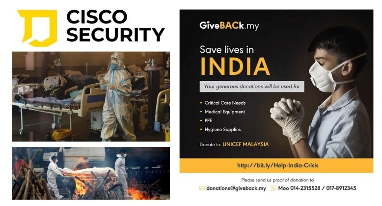 Cisco Security Closes BAC-UNICEF Save Lives in India Campaign with RM16k