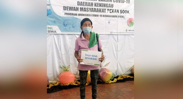 Centenarian Among the First Vaccine Recipients in Rural Sabah
