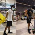 Assistant Restaurant Manager Does His Part to Help Keep PKRC Clean