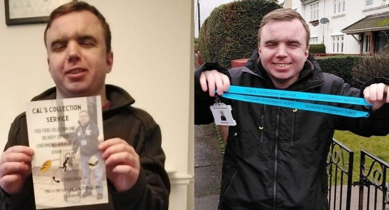 Autistic Man's Delivery Service Gives Him Hope and Meaning During Covid-19 Lockdown