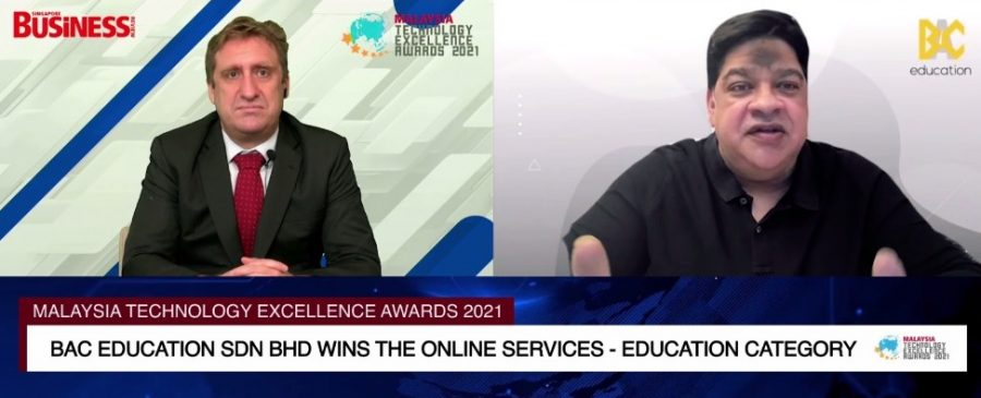 BAC Education wins the Online Services – Education award at the Malaysia Technology Excellence Awards 2021