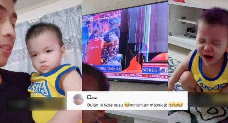 Netizens Amused by how this Father Reacted When His Child Broke the TV