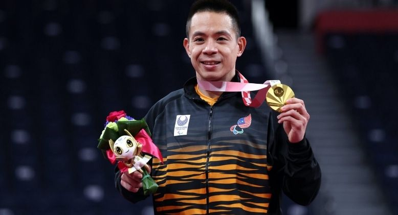 Malaysia's Cheah Liek Hou Secures Historical Gold Medal in First-Ever Paralympics Badminton Tournament