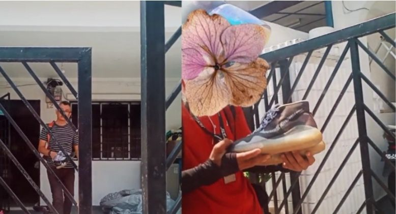 Man Goes Viral After Surprising J&T Delivery Rider with New Pair of Shoes