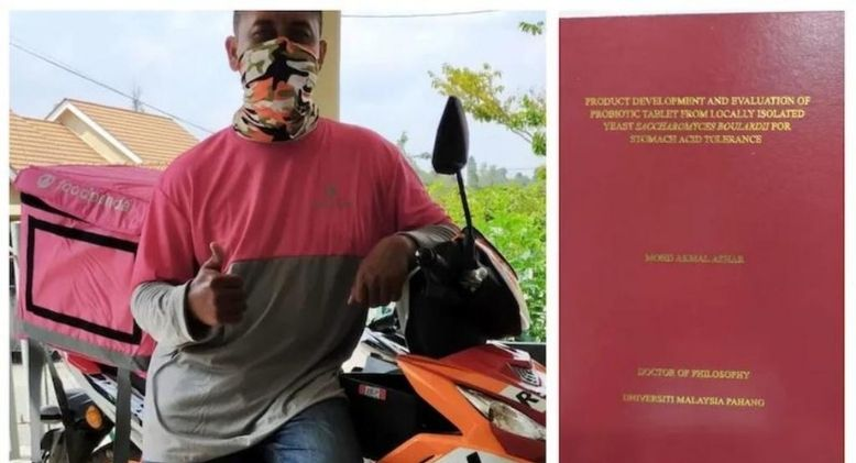 Food Panda Rider Earns PhD After Working and Studying at the Same Time